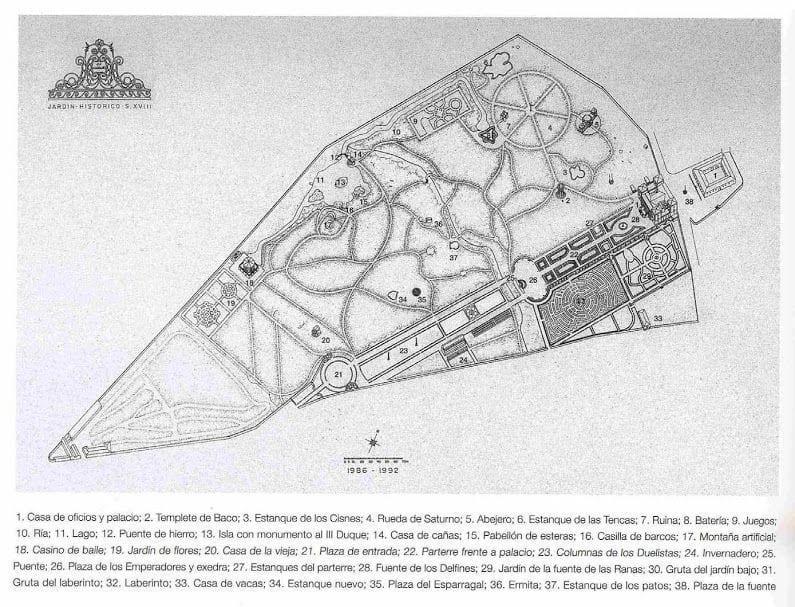 Plano Jardín El Capricho