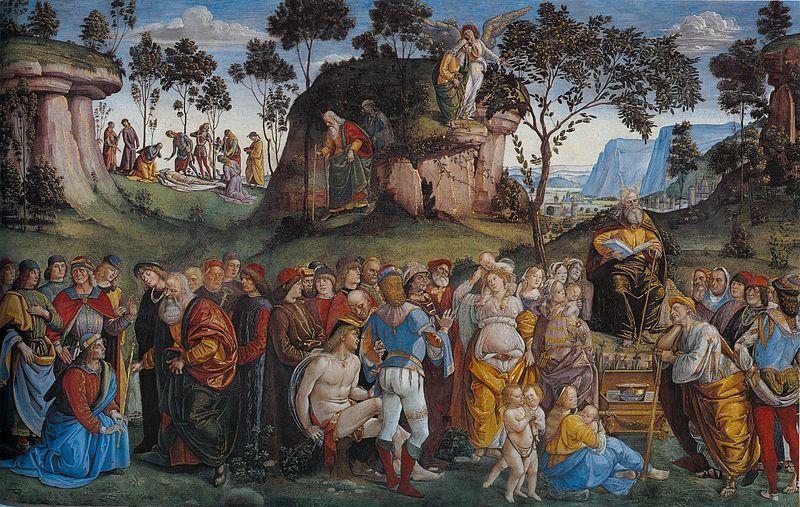 El testamento de Moisés, Luca Signorelli y Bartolomeo della Gatta.