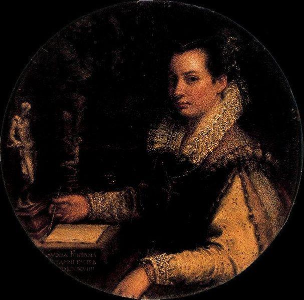 Autorretrato, Lavinia Fontana.Galeria degli Uffizi.