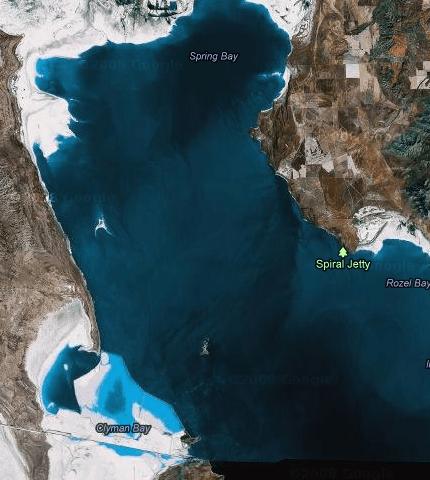 Gran Lago Salado, Utah, Estados Unidos. Imagen satélite