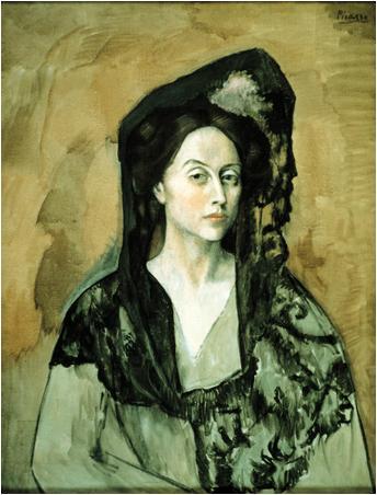 Pablo Picasso - Retrato de Benedetta Bianco, Museo Picasso de Barcelona 1906.