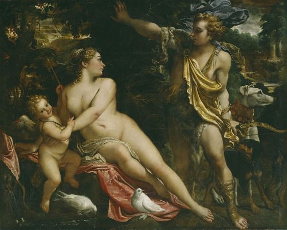 Venus, Adonis y Cupido