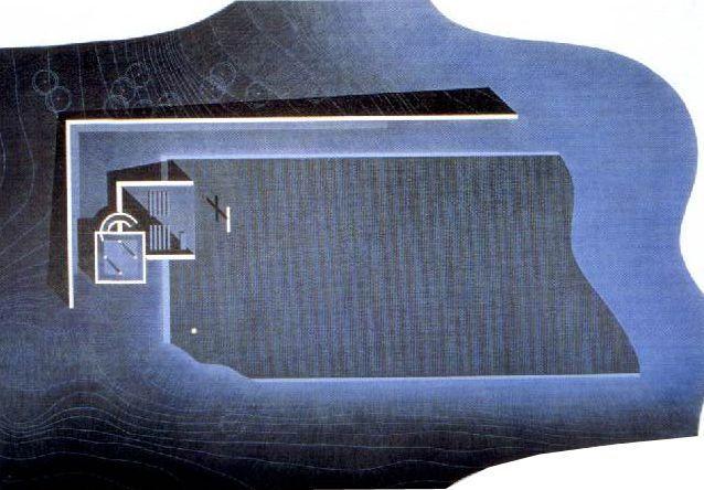 Tadao Ando, Iglesia sobre el agua. Emplazamiento (maqueta).