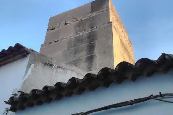 Torre de la Harina, detalle del aparejo constructivo