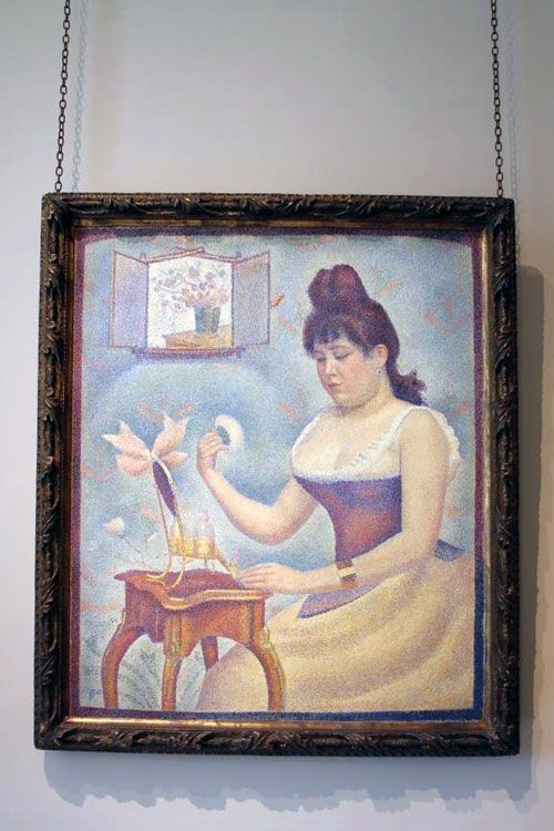 Seurat, Mujer maquillándose, Courtauld Gallery, ca. 1890.