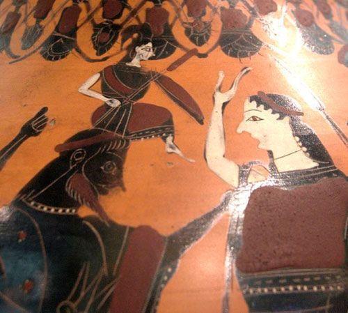 Nacimiento de Atenea, s. VI a. C., Museo del Louvre, París