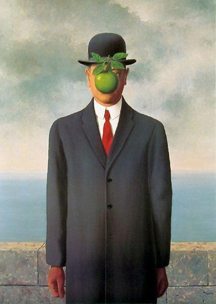 René Magritte, El Hijo del Hombre, 1964
