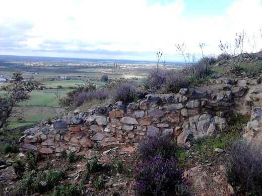 Vista hacia Portugal, antiguo Camino de la Raya