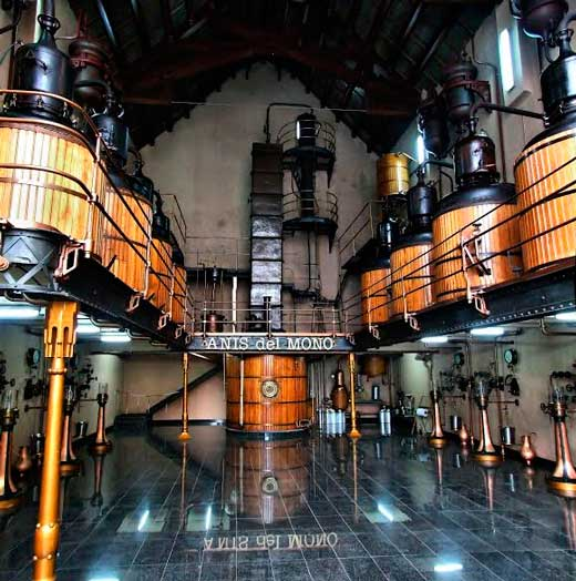 Fábrica de Anís del Mono en Badalona.