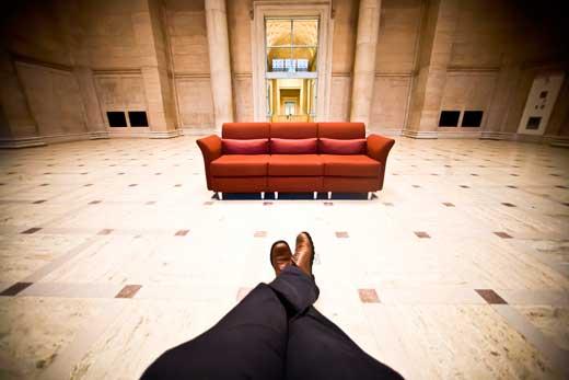 descansar en el museo