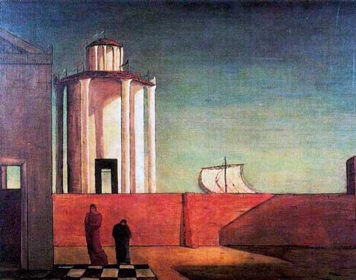 Giorgio de Chirico, Enigma de la llegada y de la tarde, 1912.