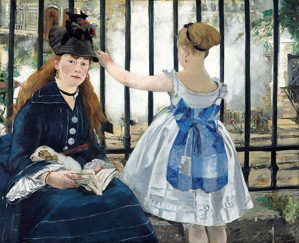 Manet, El ferrocarril, National Gallery of Art, Washington, 1873.