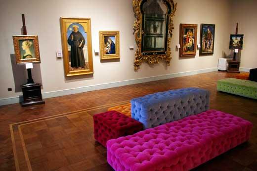 Sala dedicada al Quattrocento en el Museo Poldi Pezzoli.