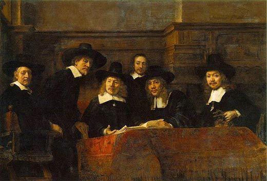 retrato de grupo, pintura holandesa