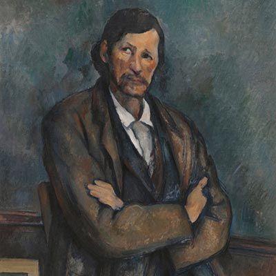 Cezanne, Hombre con los Brazos Cruzados